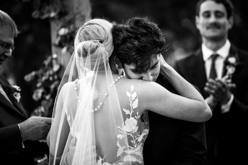 moment d'émotion des mariés