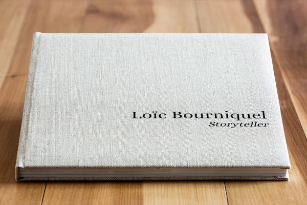 Photo du livre haut de gamme finition lin crème