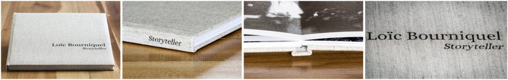 photos montrant les détails d'un beau livre de mariage